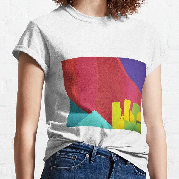Purple Sun (Facemadics colorful abstract painting) Classic T-Shirt