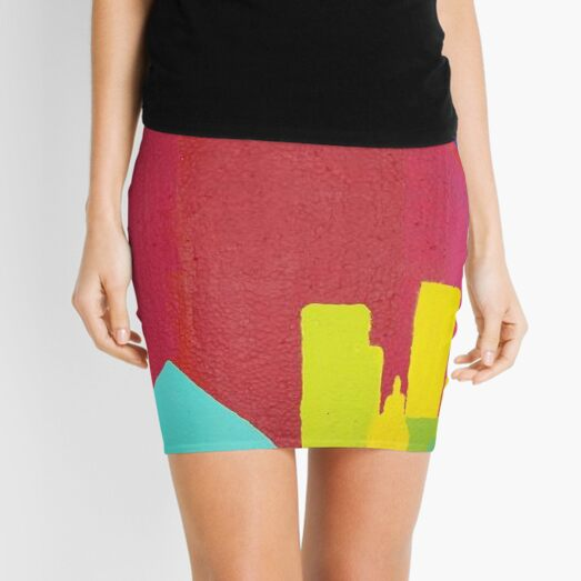 Purple Sun (Facemadics colorful abstract painting) Mini Skirt