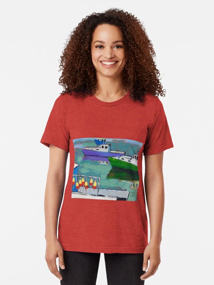 Alternate view of Celadon Voyage Tri-blend T-Shirt