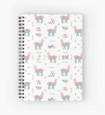 Colorful Alpaca Spiral Notebook