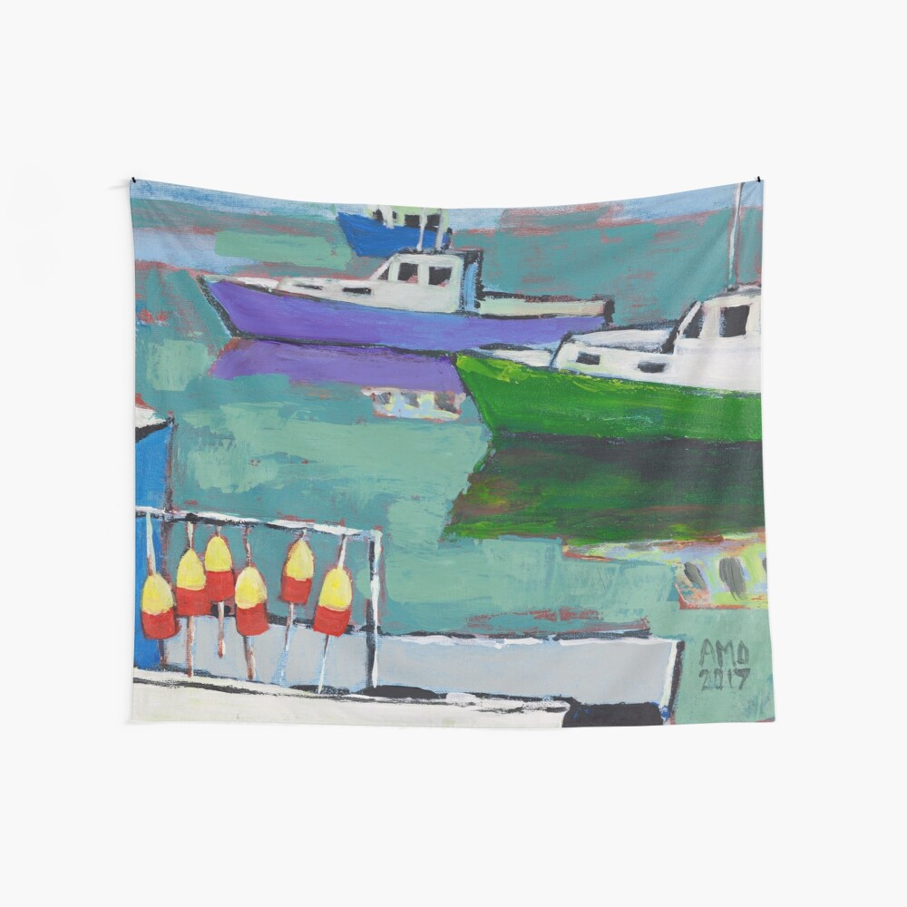 Celadon Voyage Wall Tapestry