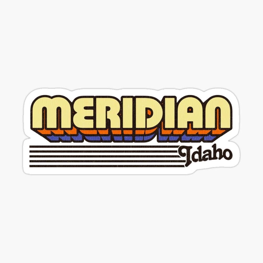 Meridian, Idaho | Retro Stripes Sticker