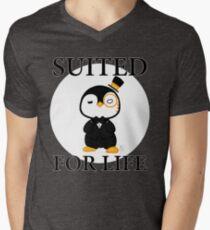 GentlePenguin - Suited For Life Men's V-Neck T-Shirt