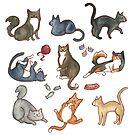 Kitties! by EmilyCarrier