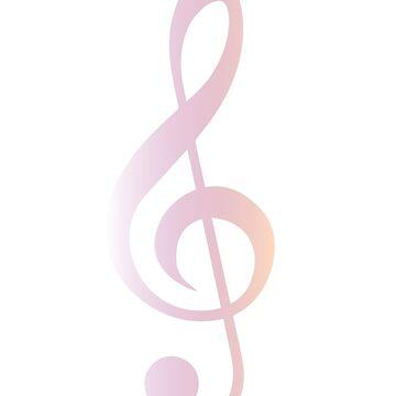 Music Treble Clef by Felizaestrada