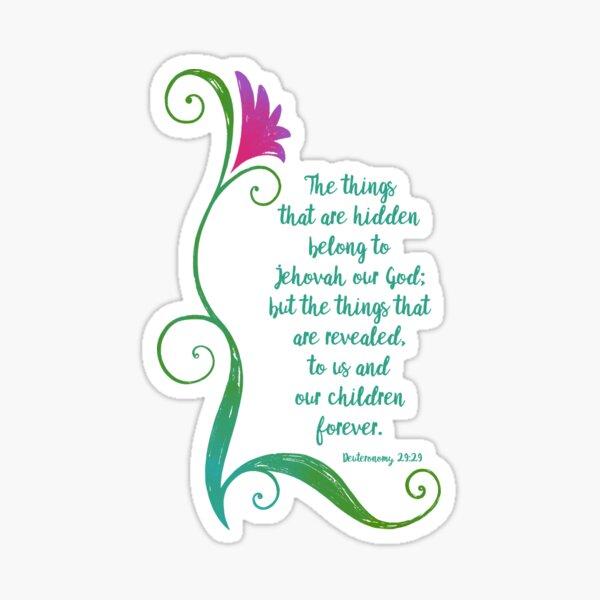 The Hidden Things (Green) Sticker