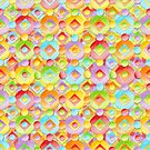Candy Rainbow Dots by PatriciaSheaArt
