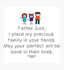 prayer for family Photographic Print