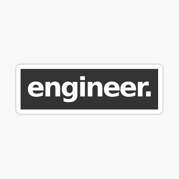 Engineer - Gray Sticker