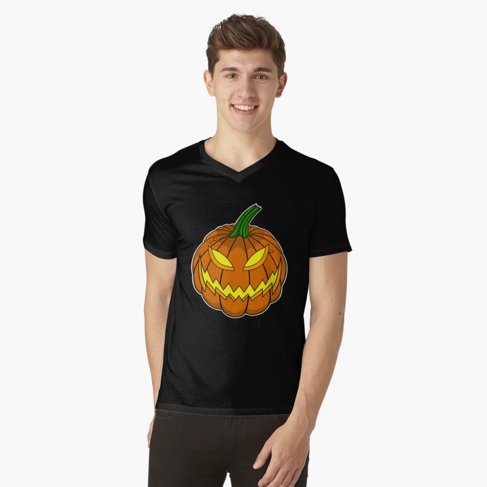 Spooky Pumpkin V-Neck T-Shirt
