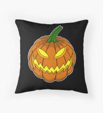 Spooky Pumpkin Throw Pillow