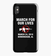 March For Our Lives End Gun Violence Birmingham iPhone Case/Skin