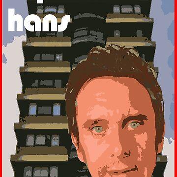 Peep Show Super Hans 70's poster by hailtothethief