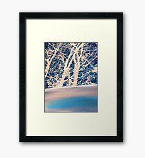 Brick trees and digital drawing Framed Print