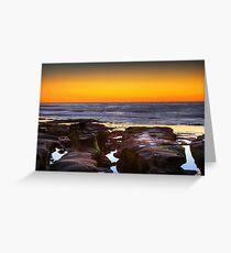 Californian Sunset Beach Greeting Card