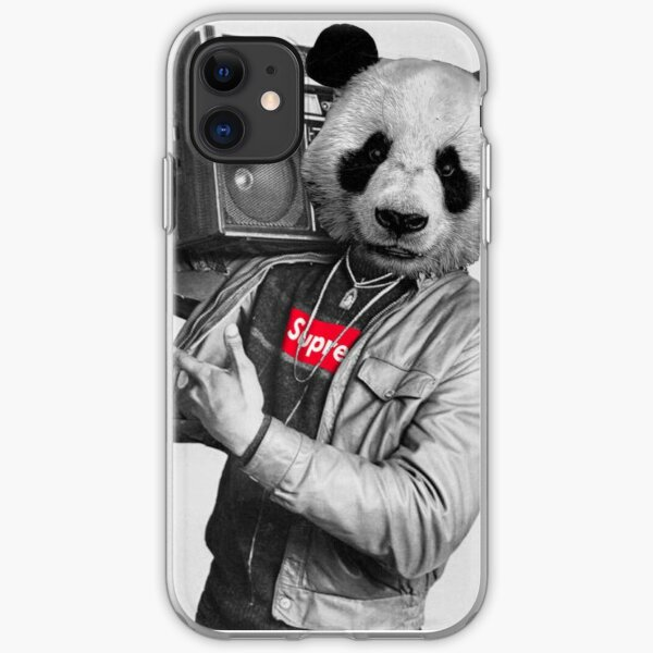 Panda Hip Hop Coque souple iPhone