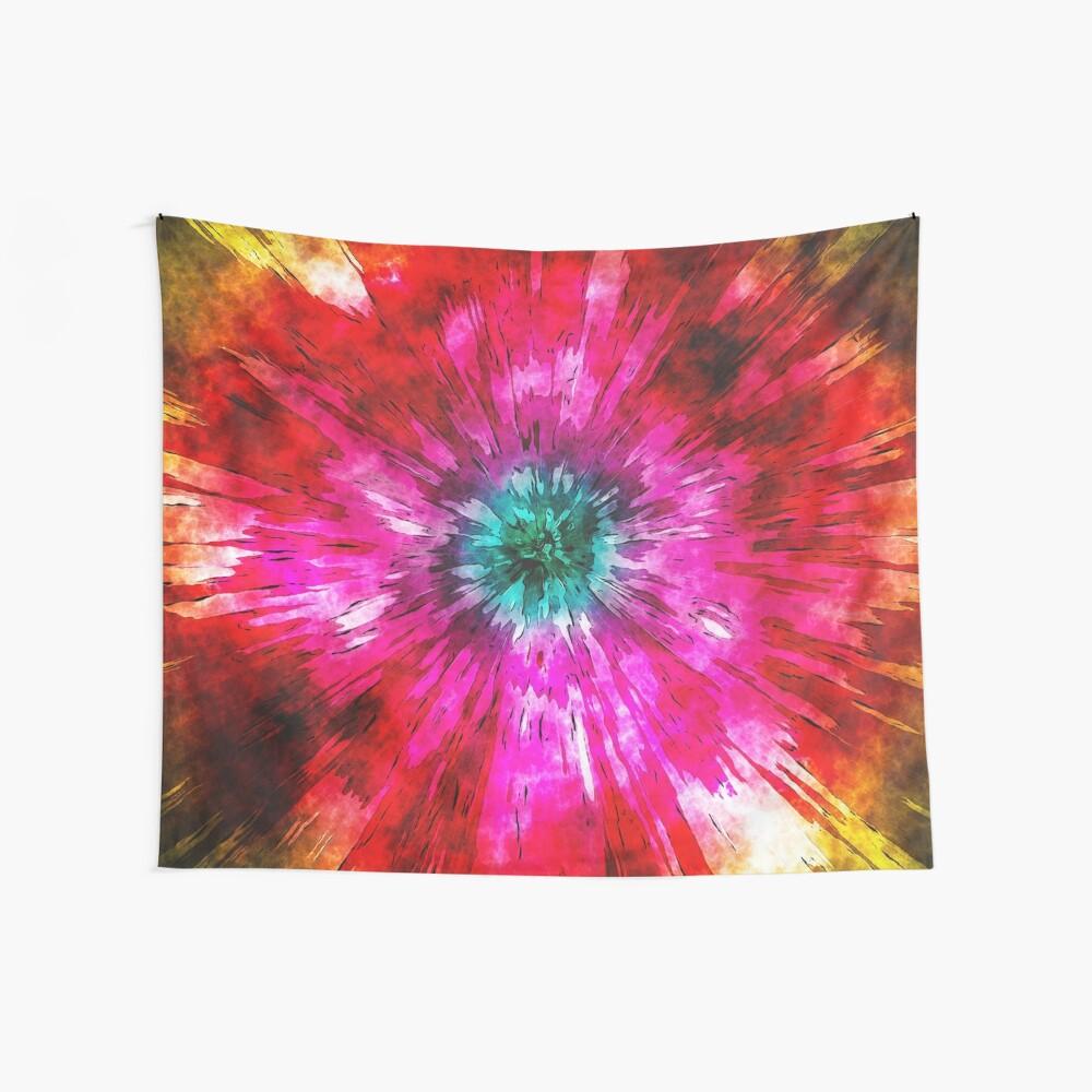 Tie Dye Watercolor Wall Tapestry