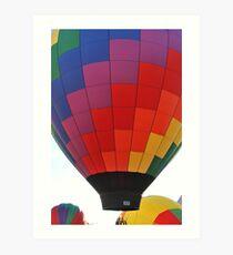 Hot Air Balloon Flame Art Print