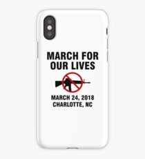 March For Our Lives End Gun Violence Charlotte iPhone Case/Skin