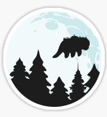 Flying By Moonlight Sticker