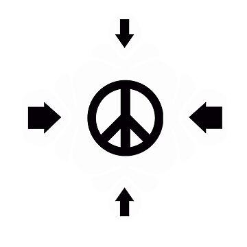 peace logo t-shirts and black arrows by oscarmega