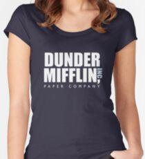 Camiseta entallada de cuello redondo Dunder Mifflin The Office Logotipo