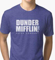 Dunder Mifflin The Office Logo Tri-blend T-Shirt