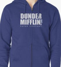 Dunder Mifflin The Office Logo Zipped Hoodie