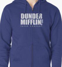 Dunder Mifflin The Office Logo Zipped Hoodie