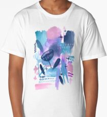 Abstract - Pink Sky At Night Long T-Shirt