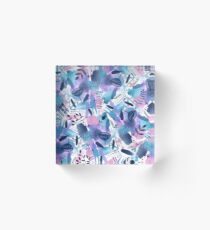 Abstract - Pink Sky At Night Acrylic Block