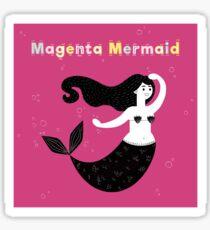 Magenta Mermaid Sticker