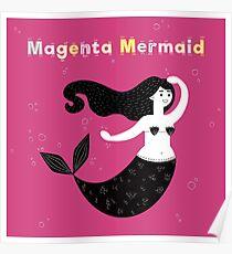 Magenta Mermaid Poster