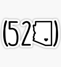 (520) Area Code Sticker