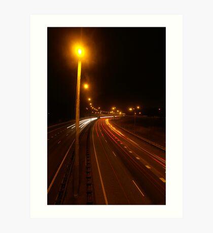 Long exposure speedcamera Art Print