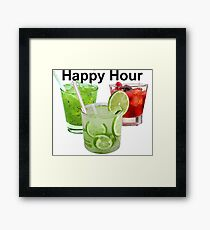 Brazilian Drinks - Caipirinha - Happy Hour Framed Print