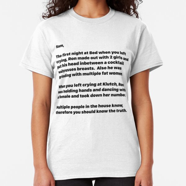 Jersey Shore Letter to Sam Anonymous Classic T-Shirt