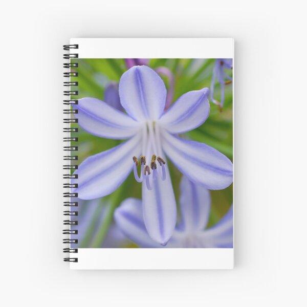 Blue Stamen Spiral Notebook