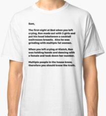 Letter to Sammi Jersey Shore T-Shirt Classic T-Shirt