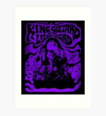 Purple King Gizzard & amp; The Lizard Wizard Art Print