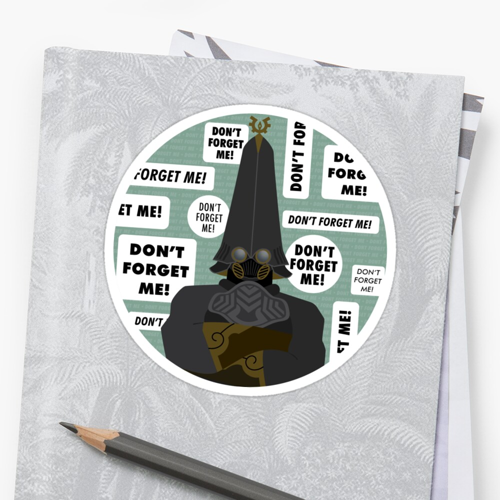 Dont Forget Me Stickers By Michaela Warthen Redbubble