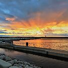 Great Lake Great Sunrise by Graphxpro