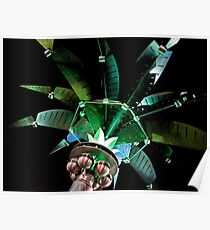 Metal Palm Tree Poster