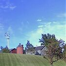 Barn on a hill by Graphxpro