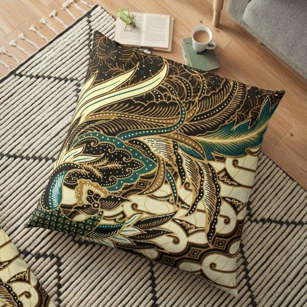 Pattern Charcoal Bird  Floor Pillow