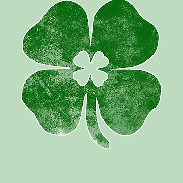 Distressed Green Shamrock St. Patrick's Day by orylinapparel