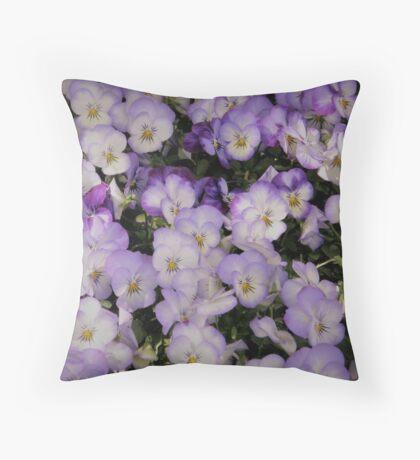 Purple Violas Throw Pillow
