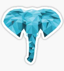 Polygon Elephant Sticker