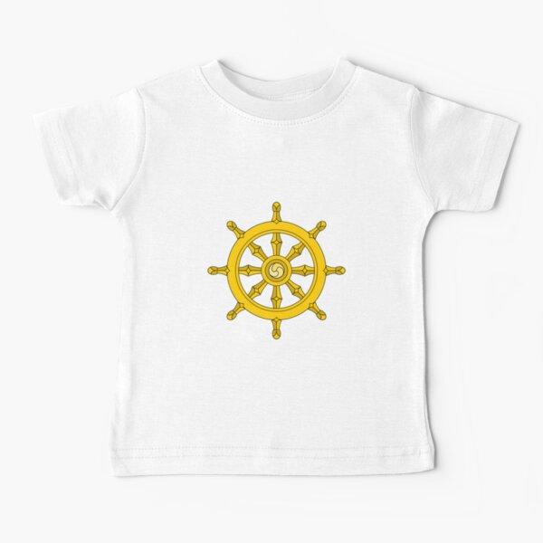 Dharmachakra, Wheel of Dharma. #Dharmachakra #WheelofDharma #Wheel #Dharma #znamenski #helm #illustration #rudder #captain #symbol #design #vector #art #decoration #sign #anchor #antique #colorimage  Baby T-Shirt