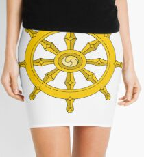 Dharmachakra, Wheel of Dharma. #Dharmachakra #WheelofDharma #Wheel #Dharma #znamenski #helm #illustration #rudder #captain #symbol #design #vector #art #decoration #sign #anchor #antique #colorimage  Mini Skirt